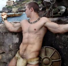 Men to be thankful for...men that dress up like gladiators. #gay #hot #man #shirtless #abs #torso #sexy #sixpack #hunk #model #muscular