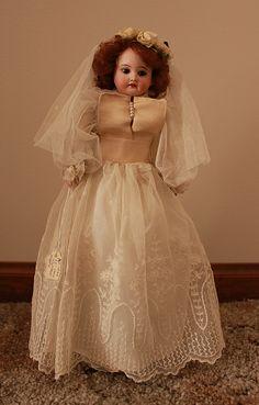 Antique French Armand Marseille Bisque Bride Doll