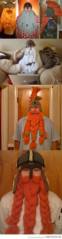 hats, beards, geek, vikings, crochet hooks, awesom, valentine day gifts, knit vike, crochet vike