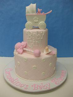Baby Girl Baby Shower Cake