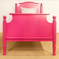 Hot pink bed!