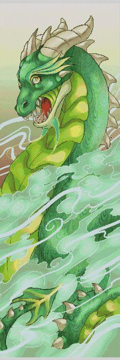 Mystic Dragon Cross Stitch Pattern
