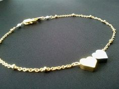 Tiny Heart Silver & Gold Bracelet  cute