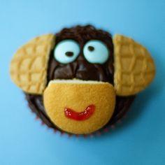 Animal Cupcakes: Monkey