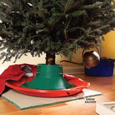 Handy Tips for Holiday Lights and Trees: No-Spill #Christmas Tree - Get the list: http://www.familyhandyman.com/smart-homeowner/ways-to-save-money/handy-tips-for-holiday-lights-and-trees