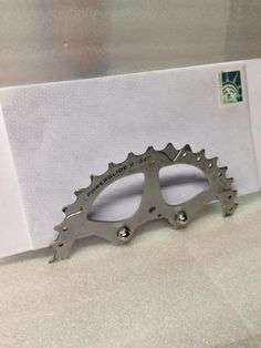 Mail Holder from Upcycled Bike Gear  by akaupcycled