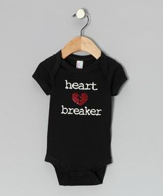 Look what I found on #zulily! Black 'Heartbreaker' Bodysuit - Infant by My Baby Bling #zulilyfinds