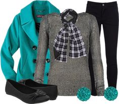 """""""Pop of Color Pea Coat"""" by qtpiekelso on Polyvore"""