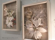 Easy Shadow Box Holiday Home Decor