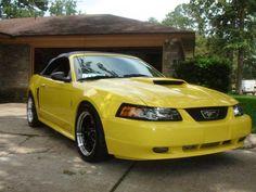 2001 Yellow Mustang Cobra Convertible