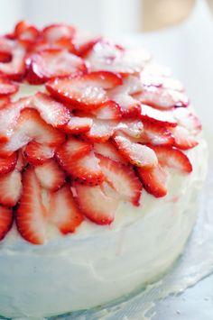 Perfect Birthday Cake (Vanilla with Strawberry and Cream Cheese filling) YUM