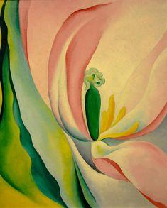 georgia okeeff, baltimor museum, art histori, pink tulip