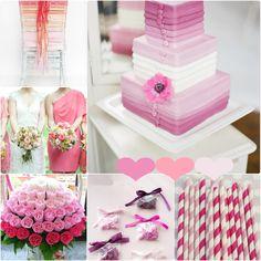 Pink Ombre Hochzeitsidee