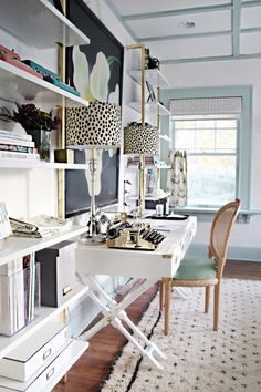 chic desk setup - da