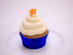 Mango Coriander Pound Cake Cupcakes with Mango Chutney Filling and Sweetened Condensed Milk Whipped Cream
