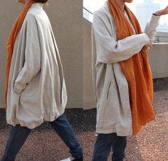 Leisure Style Pleated Long Coat/ 10 COLORS 10 color, colors, pleat long, rami, linens, style pleat, leisur style, coats, long coat