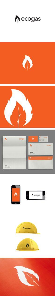 Ecogas Identity by Kyle Wilkinson | #stationary #corporate #design #corporatedesign #identity #branding #marketing < repinned by www.BlickeDeeler.de | Take a look at www.LogoGestaltung-Hamburg.de