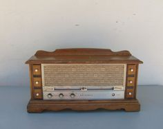 Vintage Motorola Solid State Radio in Wooden by DaveysVintage, $25.00