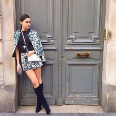 @Stylescrapbook at PFW in her CARTEL Boots and REBEL Bag