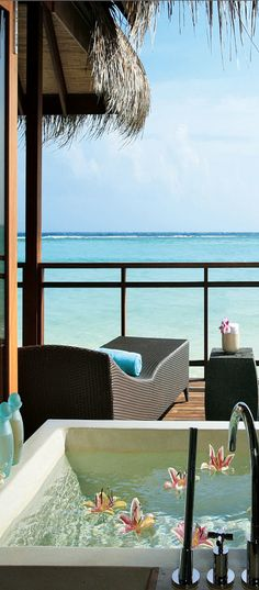 Lux Maldives Resort on the island of Dhidhoofinolhu in the Indian Ocean