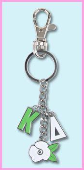 Kappa Delta Sorority Charm Keychain $5.95