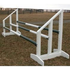 Triple Bar Standards Wood Horse Jumps 5ft