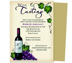 Printable DIY Bachelorette Party Invitations : Winery Bachelorette Party Invitation Template Design.