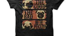 . pug life, tee shirts