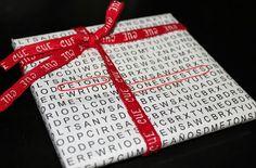 Paper de regal imprimible (sopa de lletres)