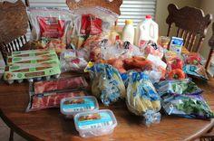This $91 Week's Grocery Shopping Trip and Weekly Menu Plan