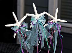 mermaid parti, starfish wand, disney parties, birthday parties, mermaid birthday, mermaid costumes, kid birthday, kid parties, parti idea