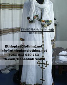 Traditional habesha dress