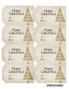 Printable gift tags ~ free download