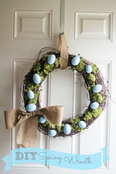 DIY Easter Egg Spring Wreath...