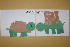 Shape theme for preschool | finally here are our cute little turtles my four opted out of this one ...