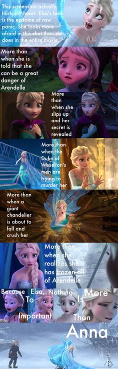 Because to Elsa, nothing is more important than Anna.