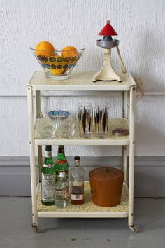 Cute Vintage 3 Tier Kitchen or Bar Cart on by departmentChicago, $65.00