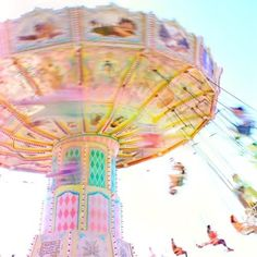 Through the Rainbow Sorbet Lens color carousel, pastel, candy colors, dream, carnivals, summer fun, swing, rainbow, thing