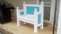 This is a headboard and foot board I converted into a bench