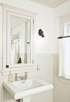 white beadboard bathroom