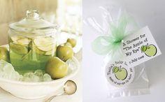 Green apple wedding reception drink, yum!