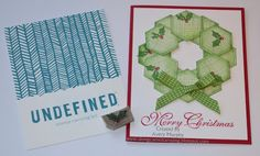 Along Came Stamping: Holly Stampin' Up Undefined Carving #StampinUp #Undefined #sixsidedsampler