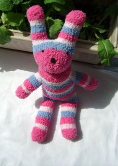 Handmade Sock Toy Rabbit is for child and baby toys and by cqqc, $14.80