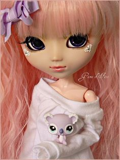 ♥ #pullip #bows #pink #sweater