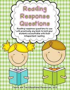 Free Reading Response Questions for practically any book! Plan to print off in strips, laminate, and ring together and use in guided reading and also in listening center and read to partner station for the students to discuss
