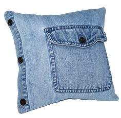 by Home Made Pleasures, GREAT use of a denim shirt!