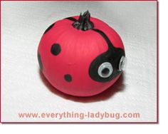 Ladybug Painted Pumpkin Craft