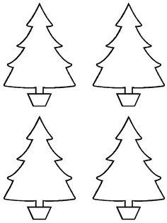 Plantillas de árboles de Navidad. 15 plantillas diferentes.