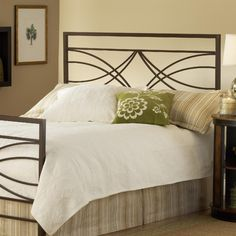 """Dutton Headboard in Brown Crystal Size: King    Features: -Headboard. -Dutton collection. -Brown Crystal finish. -Available in Full / Queen or King sizes. -52"""" H x 61 - 78"""" W x 1.25"""" D.    $247.99"""