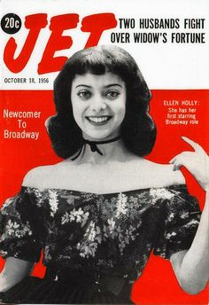 Ellen Holly: October 1956 ::Actress and writer Ellen Holly ...